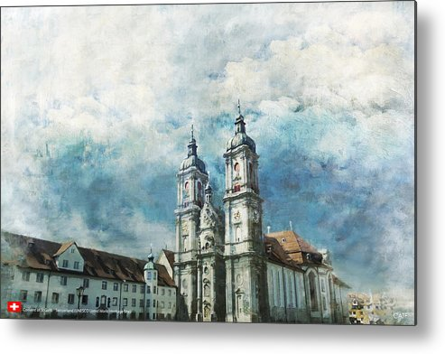 Metal Print featuring the painting Abbey Of St Gall by Catf