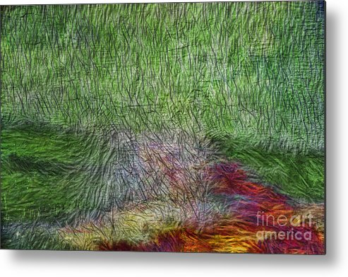 Abstract Metal Print featuring the digital art Abstraction Of Life by Deborah Benoit