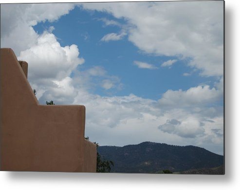 Santa Fe Metal Print featuring the photograph Adobe Clouds by Brennan Rees