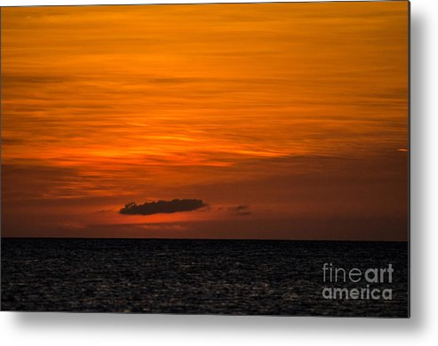 Aruba Metal Print featuring the photograph After Glow by Judy Wolinsky
