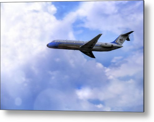 Air Force One Metal Print featuring the photograph Air Force One - Mcdonnell Douglas - Dc-9 by Jason Politte