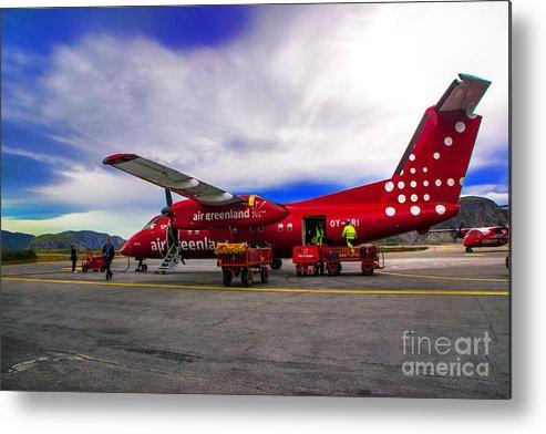 Greemland Metal Print featuring the photograph Air Greenland by Roberta Bragan