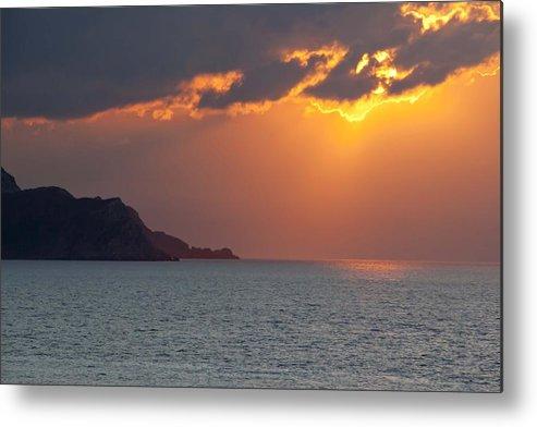 Sunset Metal Print featuring the photograph Al Hoseyma by Renato Sensibile