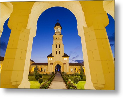 Architecture Metal Print featuring the photograph Alba Iulia Belltower by Mircea Costina Photography