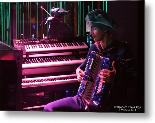 Metal Print featuring the photograph Ale Romero 1 by Paul James Bannerman