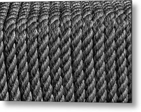Rope Metal Print featuring the photograph All Wrapped Up by Christian Schroeder