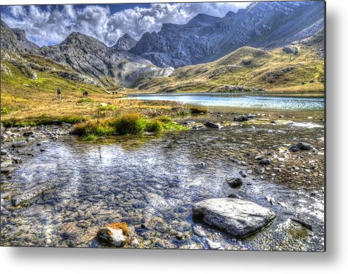 Clouds Metal Print featuring the photograph Alps Southern France by Seruddin Salleh