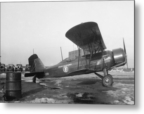 Aa Metal Print featuring the photograph American Airlines Stearman by Henri Bersoux