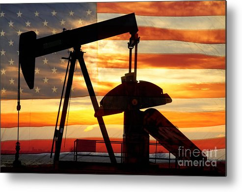 Oil Metal Print featuring the photograph American Oil by James BO Insogna
