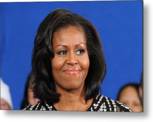 Michelle Metal Print featuring the photograph America's First Lady by Mike Stouffer
