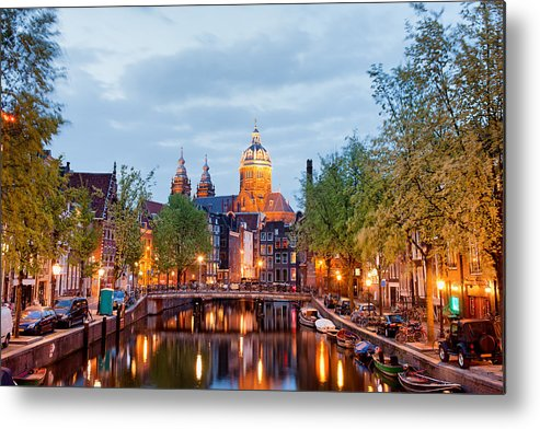 Amsterdam Metal Print featuring the photograph Amsterdam by Artur Bogacki