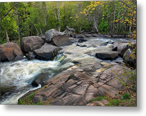 Strong Falls Metal Print featuring the photograph An Evening At Strong Falls by Theo O Connor