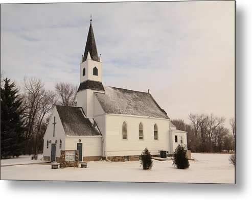 Church Metal Print featuring the photograph An Old Church In Palermo North Dakota by Jeff Swan