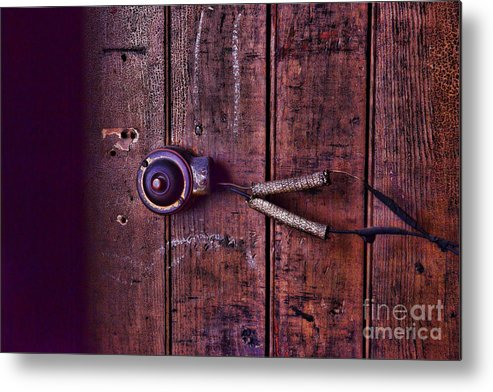 Paul Ward Metal Print featuring the photograph An Old Doorbell by Paul Ward
