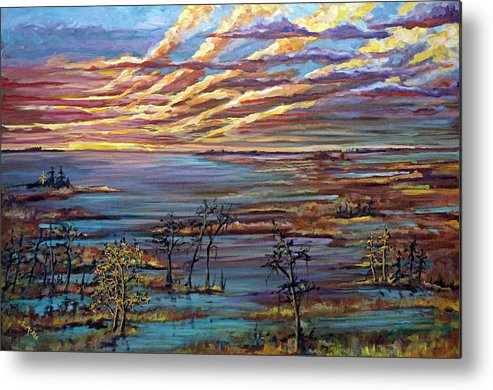 Sunrise Metal Print featuring the painting And The Trees Clapped Their Hands by Suzanne McKee