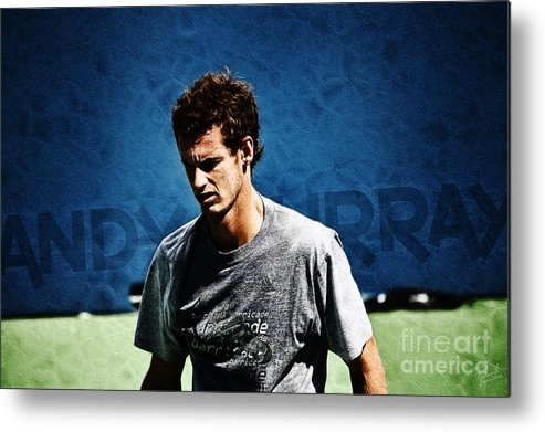 Andy Murray Metal Print featuring the photograph Andy Murray by Nishanth Gopinathan