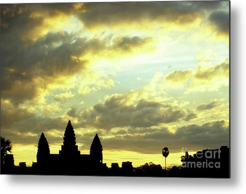 Angkor Wat Metal Print featuring the photograph Angkor Wat Sunrise 03 by Rick Piper Photography