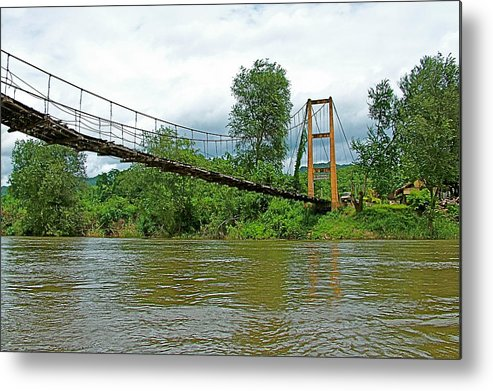 Another Bridge Over River Kwai In Kanchanaburi Metal Print featuring the photograph Another Bridge Over River Kwai In Kanchanaburi-thailand by Ruth Hager