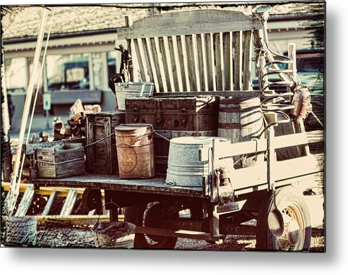 Old Truck Metal Print featuring the photograph Antique by Sheri Bartoszek