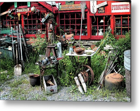 Antiques Metal Print featuring the photograph Antiques For Sale by Karol Livote