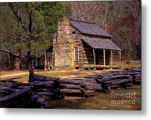 Log Cabin Metal Print featuring the photograph Appalachian Homestead by Paul W Faust - Impressions of Light