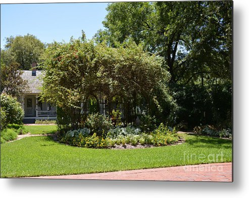 Arbors Metal Print featuring the photograph Arbor At Historical Park by Ruth Housley