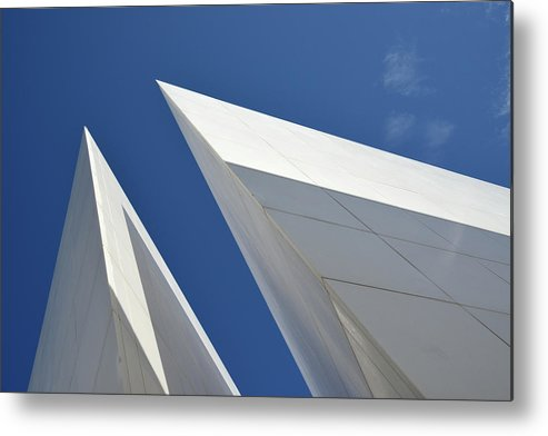Tranquility Metal Print featuring the photograph Architectural Details by Martial Colomb