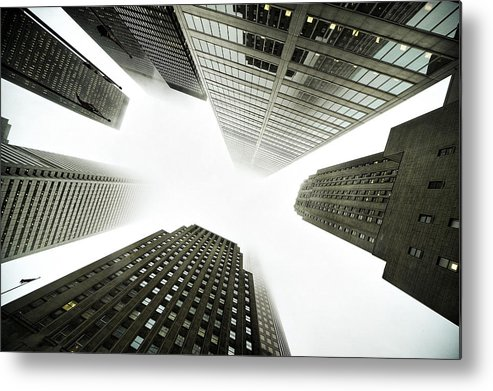 Light Metal Print featuring the photograph Architectural Photographs Of Business by David Wile