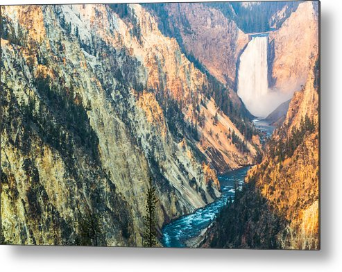 America Metal Print featuring the photograph Artist Point - Yellowstone Park Horizontal by Andres Leon