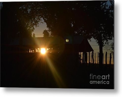 Sunset Metal Print featuring the photograph As The Sun Sets by CJ Everhardt