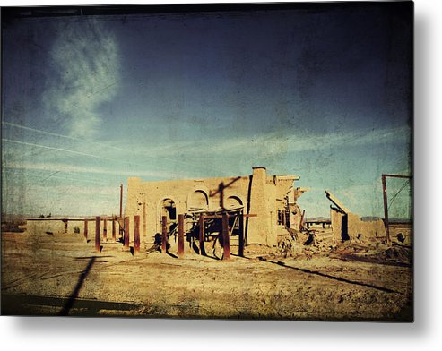 Dilapidated Metal Print featuring the photograph Ashes To Ashes by Laurie Search