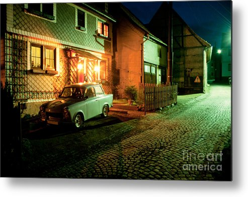 Asleep Metal Print featuring the photograph At Night In Thuringia Village Germany by Stephan Pietzko
