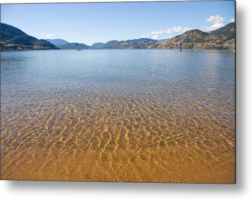 Beach Metal Print featuring the photograph At The Water Edge. by Volodymyr Kyrylyuk