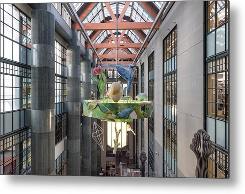 Los Metal Print featuring the photograph Atrium Of The Central Library In Los Angeles by Carol M Highsmith