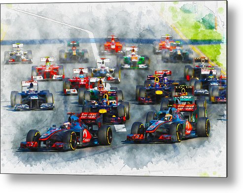 Formula One Racing Metal Print featuring the digital art Australian Grand Prix F1 2012 by Don Kuing