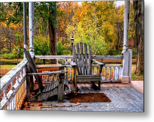 Waterloo Village Metal Print featuring the photograph Autumn Day by Don Edwards