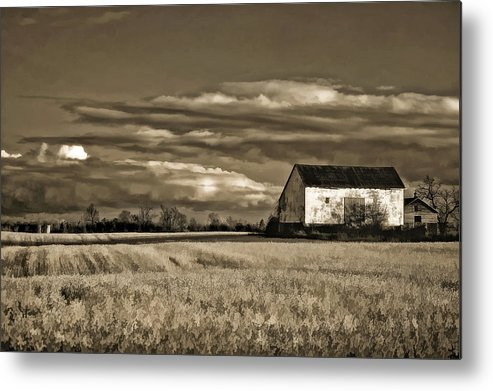 Farmland Metal Print featuring the photograph Autumn Farm II by Steve Harrington