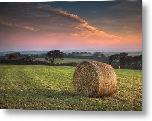 Landscape Metal Print featuring the photograph Autumn In Cornwall by Christine Smart