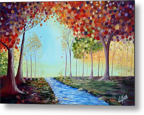 Bubbles Metal Print featuring the painting Autumn Stream by Wendy Smith
