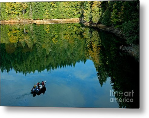 Pacific Metal Print featuring the photograph Autumn Trolling by Nick Boren