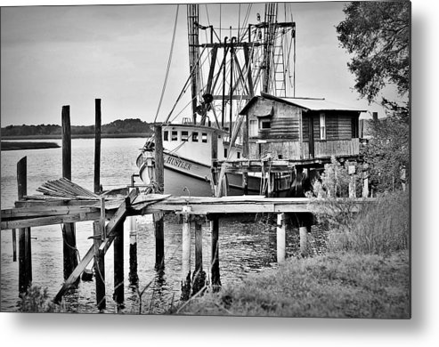 Ocean Metal Print featuring the photograph Back At The Dock by Robert Holley