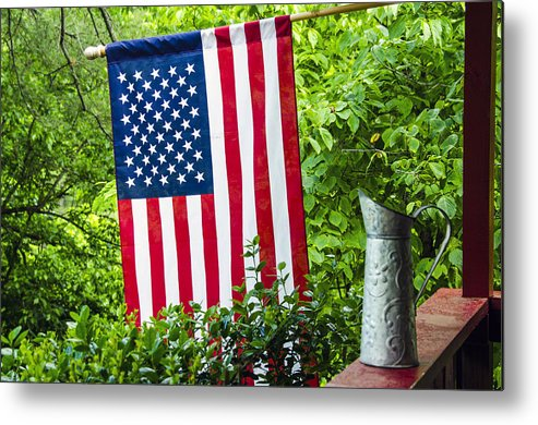 American Metal Print featuring the photograph Back Porch Americana by Carolyn Marshall