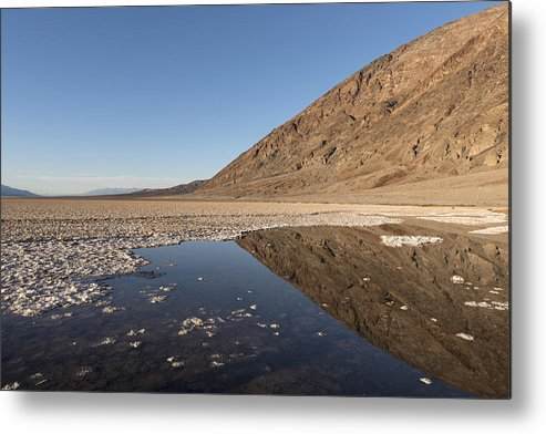Death Metal Print featuring the photograph Badwater Basin In Death Valley National Park In Inyo County by Carol M Highsmith