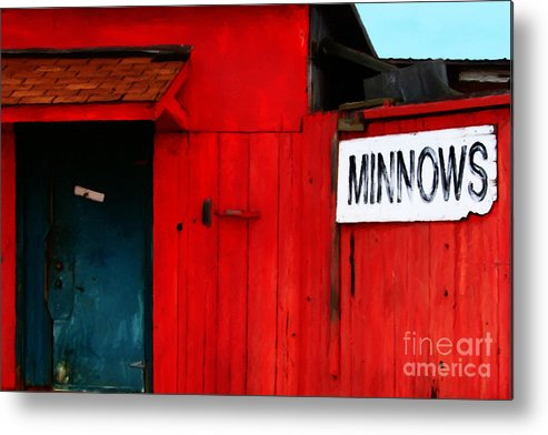 Americana Metal Print featuring the photograph Bait Shop 20130309-2 by Wingsdomain Art and Photography