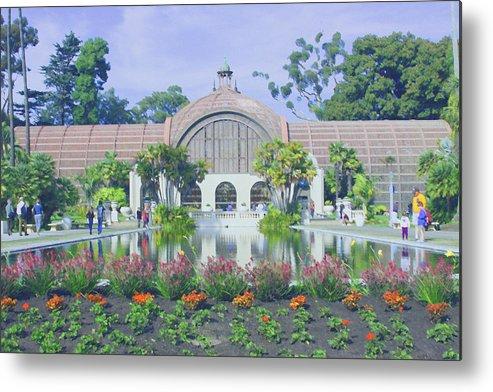 San Diego Metal Print featuring the photograph Balboa Park Botanical Garden by Andrea Lynch