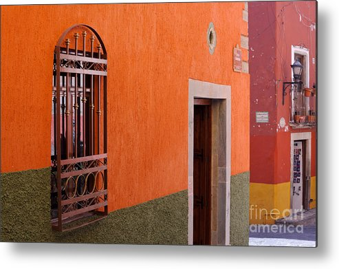 Travel Metal Print featuring the photograph Barred Window, Mexico by John Shaw