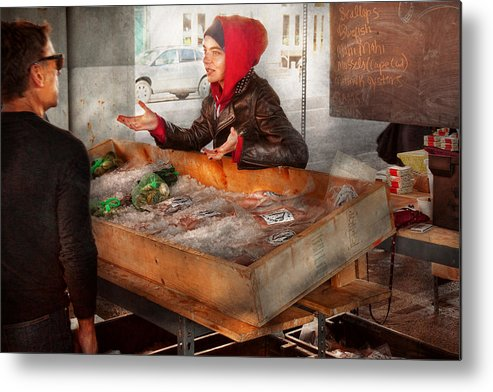 Amsterdam Market Metal Print featuring the photograph Bazaar - I Sell Fish by Mike Savad