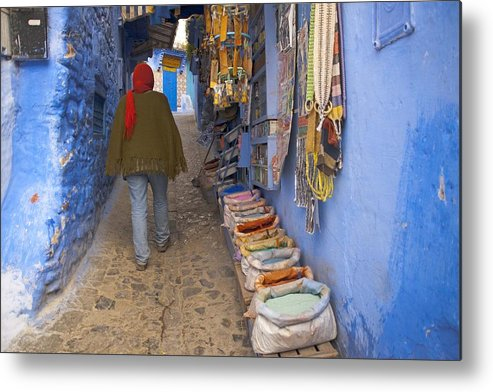 Street Metal Print featuring the photograph Bazaar Of Colors by Renato Sensibile