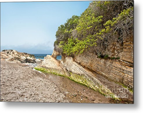 Ocean Metal Print featuring the photograph Beach At Montana De Oro by Artist and Photographer Laura Wrede