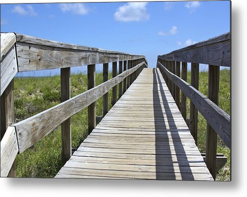 Apalachicola Metal Print featuring the photograph Beach Bound by Soccer Dog Design